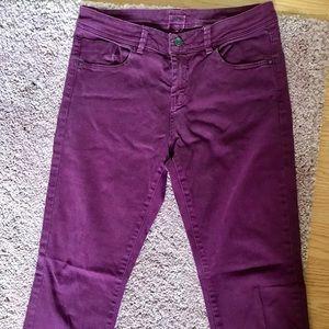 Maroon Purple straight leg sz 8 ASOS jeans
